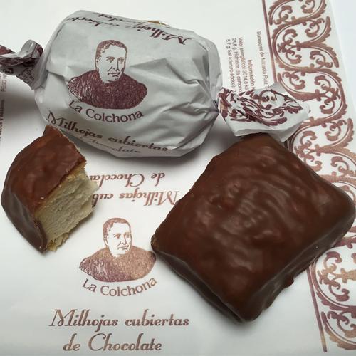 Milhojas cubiertas de chocolate